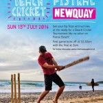 Beach Cricket Poster 2014