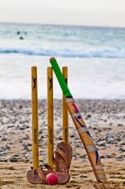 Newquay Fistral Beach Cricket