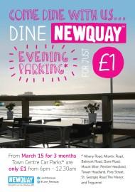 £1 evening parking poster
