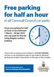 Free half hour parking