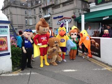 Mascots at Hotel Vic