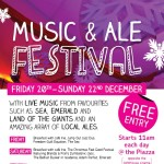 music and ale poster